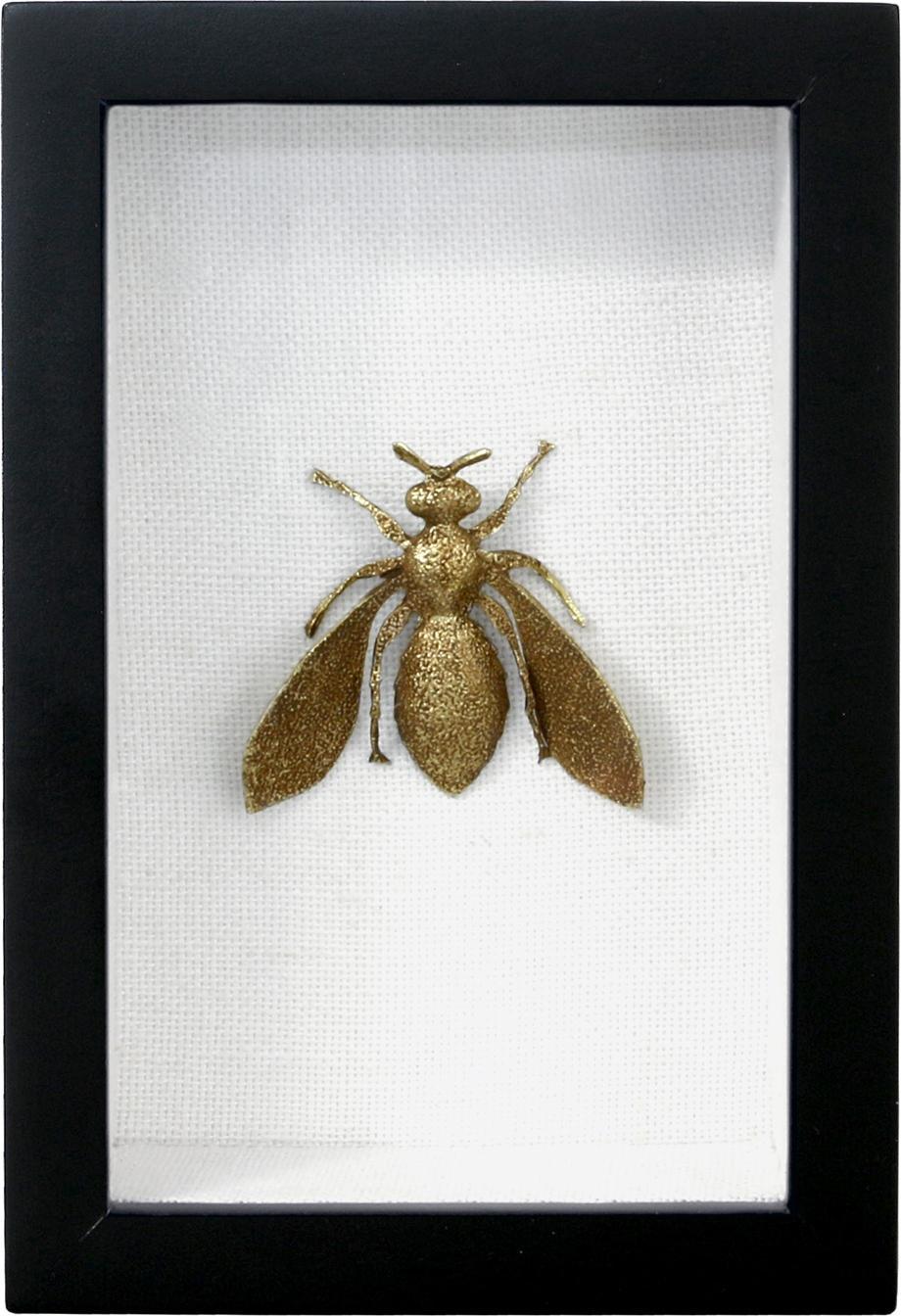 Kunstrahmen Biene 3D - Messing - HK Living kaufen? - Lilianshouse.de ...